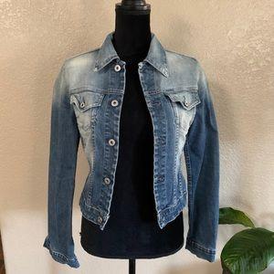 Diesel fitted denim jean jacket